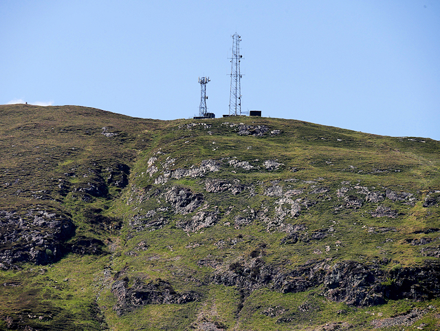 Antennae above Camusnagaul and Trioslaig