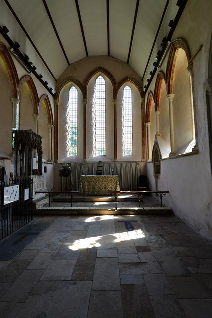 Stanton Harcourt, St. Michael's Church: The lovely c13th Early English chancel