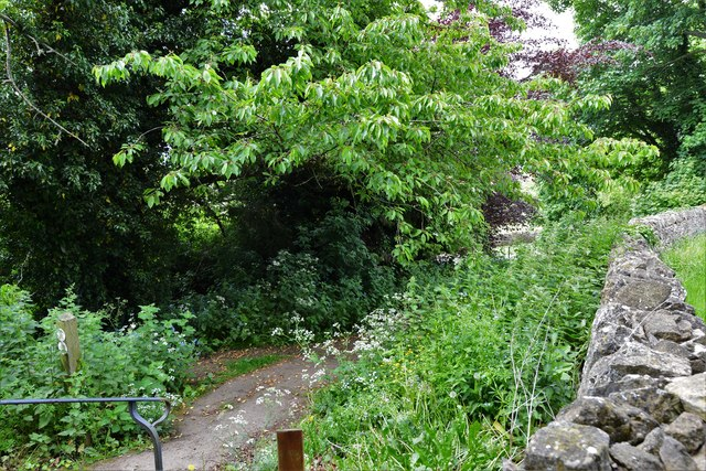 Saintbury: The end of the steep path to St. Nicholas' church