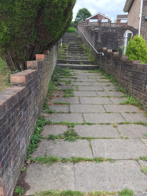 Footpath and Steps within Housing Estate