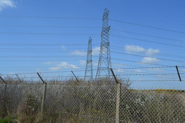 Pylons, Lydd Ranges