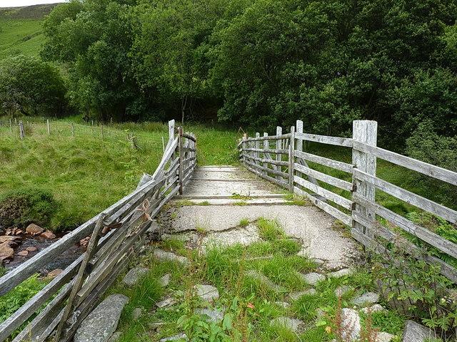 Footbridge below Hafod Fudr