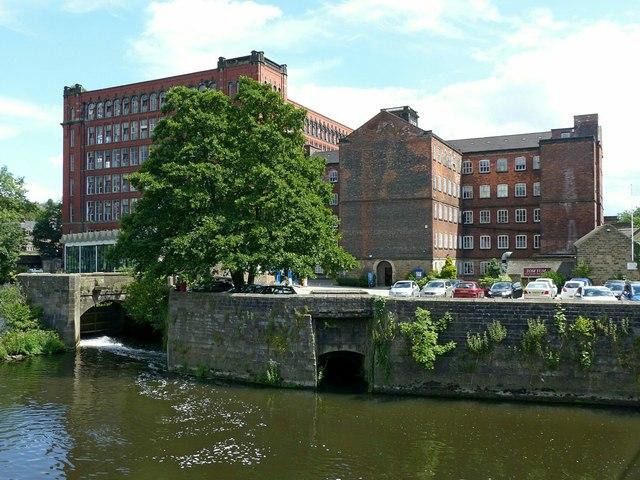 Belper Mills from Belper Bridge