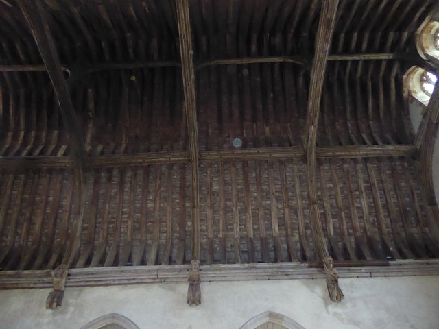 The roof of the Baron's Hall, Penshurst Place