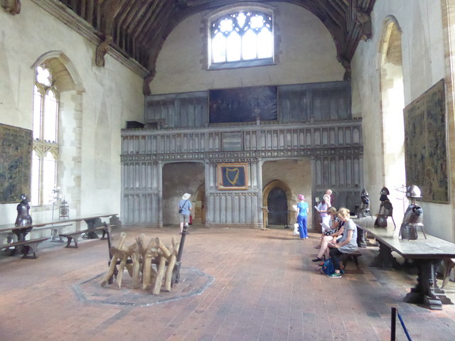 In the Baron's Hall at Penshurst Place
