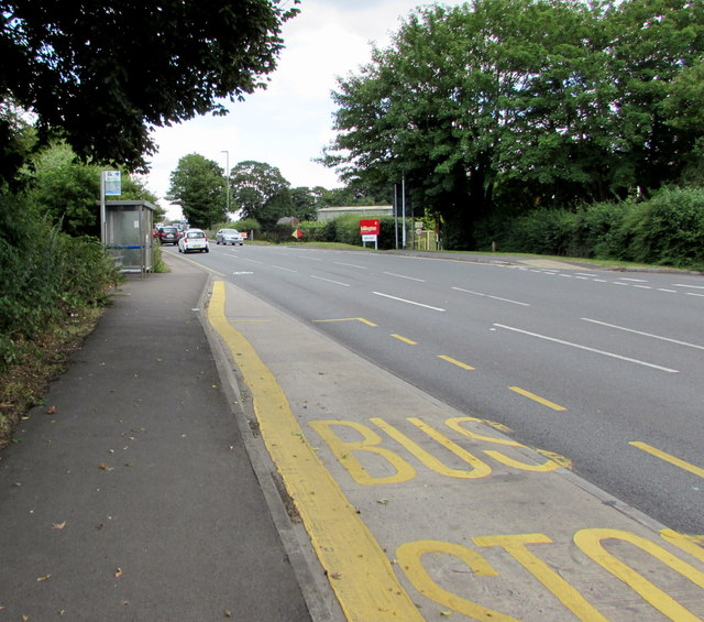 Stover Road bus stop and shelter, Yate