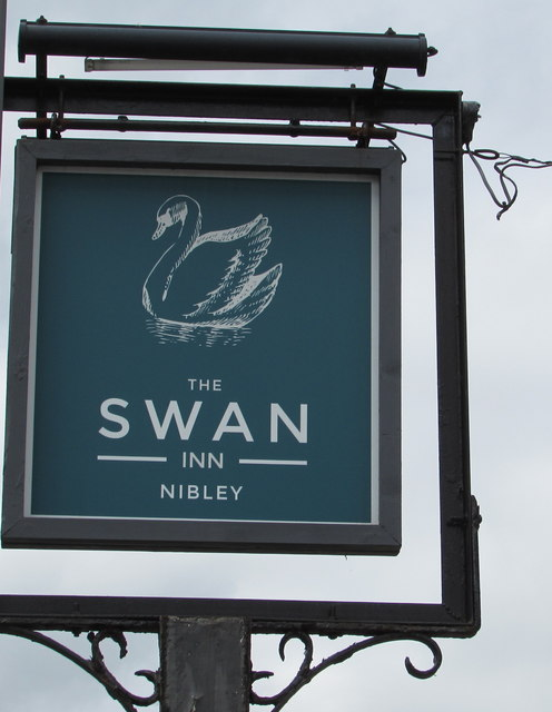 Swan Inn name sign, Nibley, South Gloucestershire