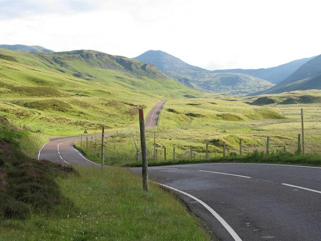 A93 north of Spittal of Glenshee