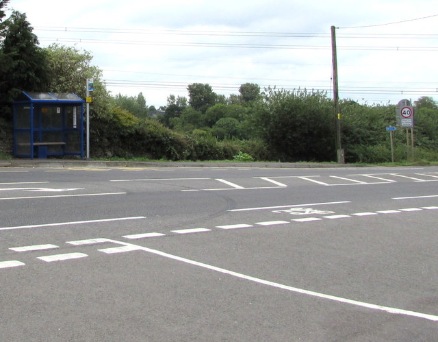 Badminton Road bus stop and shelter, Nibley, South Gloucestershire