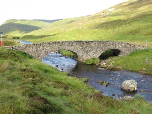 Old Road Bridge over the Clunie Water in Glen Clunie