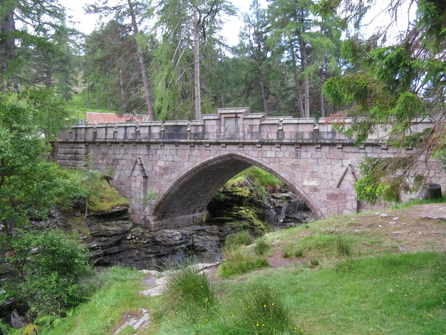 Road Bridge at the Linn of Dee