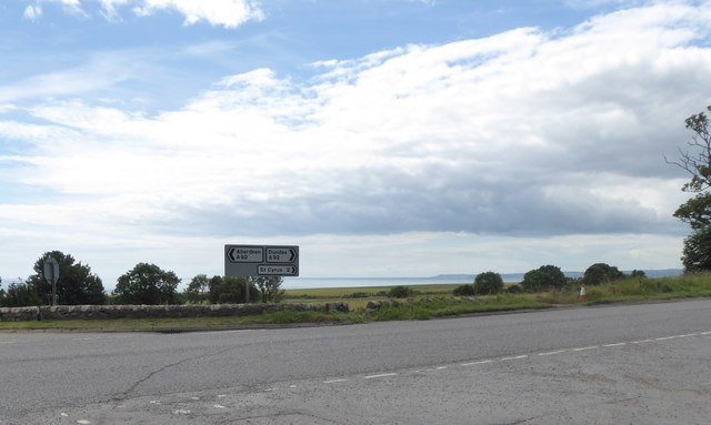 Road sign on A892