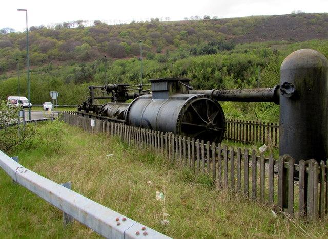 Industrial relic alongside the A4046 in Cwm