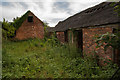 SK3614 : Derelict farm buildings at Hall Farm, Packington by Oliver Mills