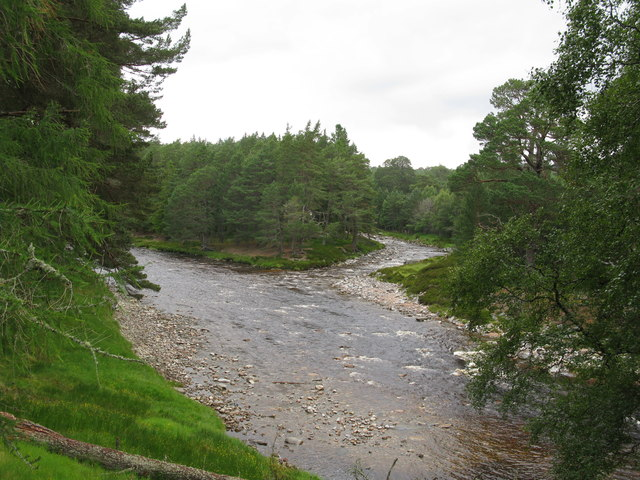 Confluence of the River Dee and the Lui Water