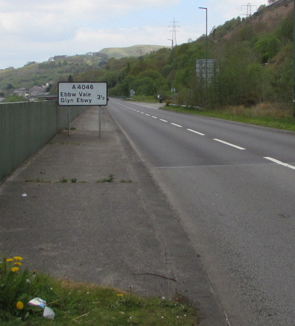 A4046 in Cwm, 3½ miles from Ebbw Vale