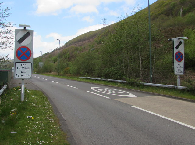 From 30 to the National Speed Limit on the A4046, Cwm