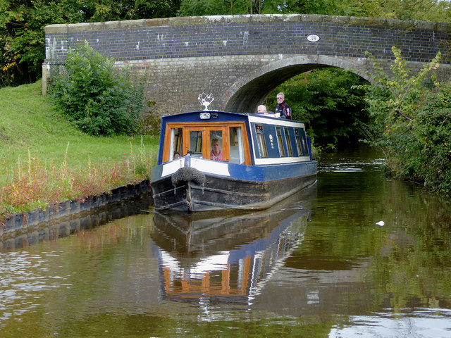 Bridge and narrowboat near Lower Frankton, Shropshire