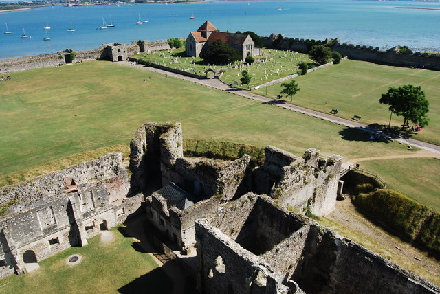 The view south east from Portchester Castle (2)