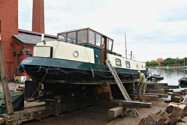 Boat under repair