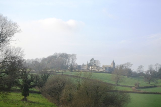 View towards The Priory