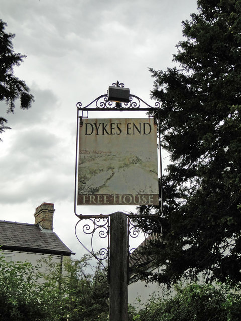 Hanging sign for The Dykes End