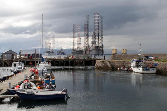 Cromarty Harbour scene