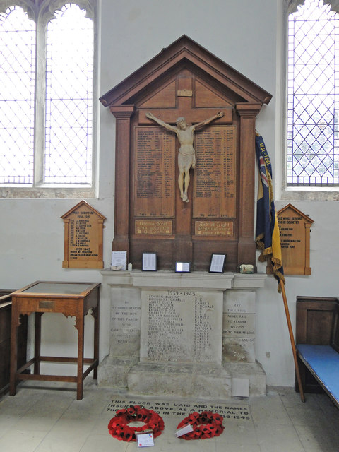 Burwell War Memorial, the one in the church