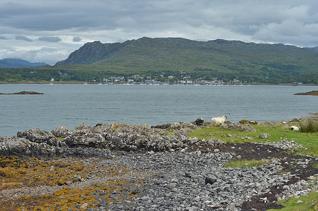 View over Loch na Ceall towards Arisaig