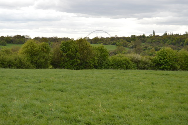 Wembley Arch in the distance