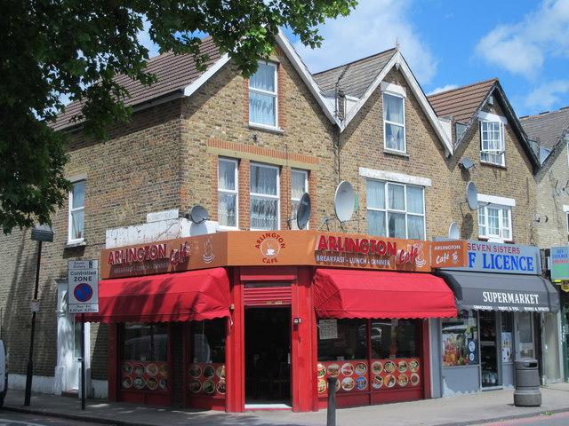 The ARLINGTON Café, Seven Sisters Road / Elizabeth Road, N15