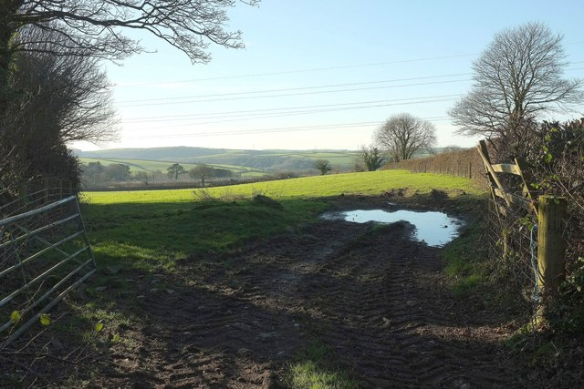 Field and footpath, Michaelstow