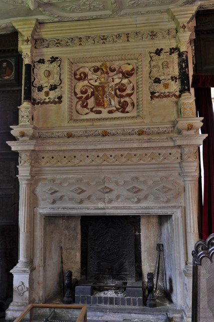 Chastleton House: Stone Chimneypiece in the Great Chamber