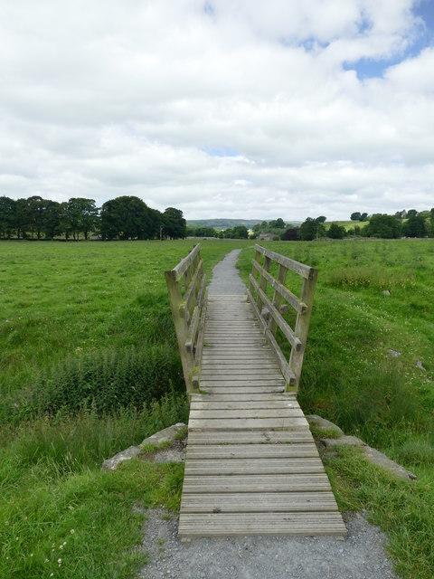 Footbridge on the Dales Way