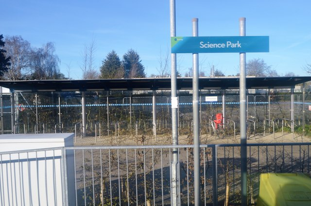 Science Park stop. Busway