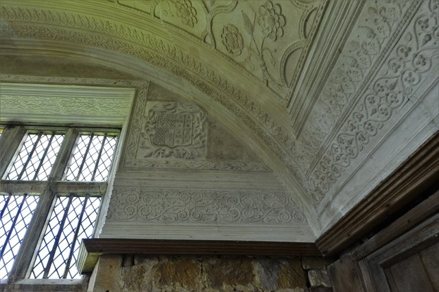 Chastleton House: The Long Gallery ceiling detail