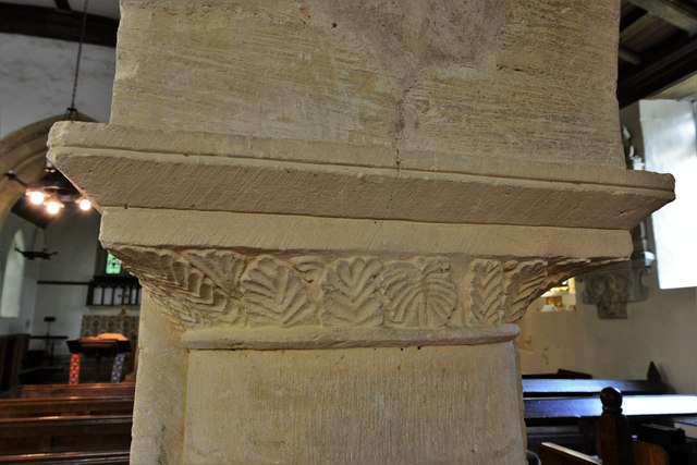 Chastleton, St. Mary's Church: Nave capital
