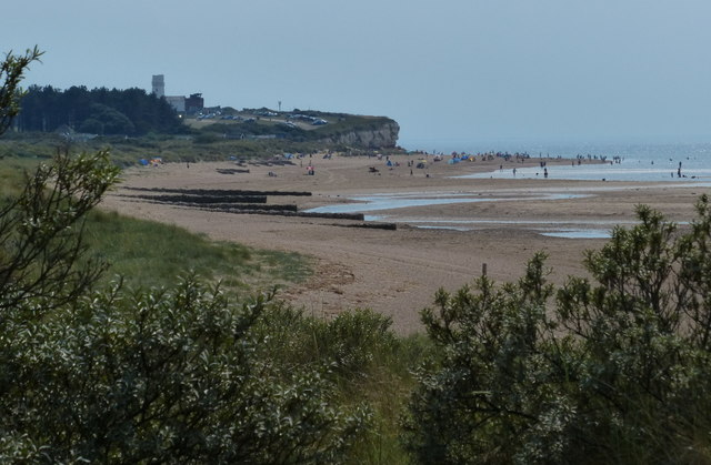 View along the beach towards Old Hunstanton