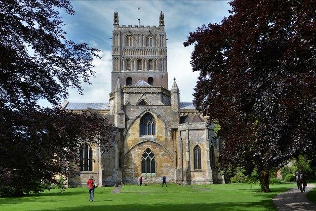 Tewkesbury Abbey eastern aspect