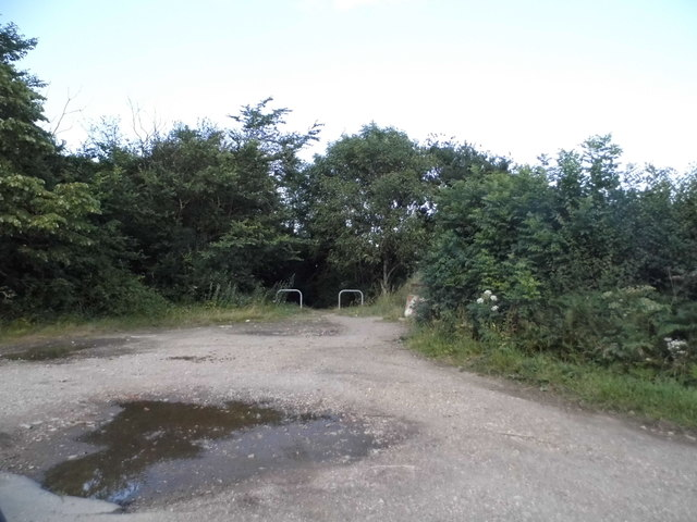 Path entrances in Trowley Bottom