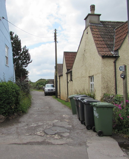 Public footpath from the south side of High Street, Iron Acton