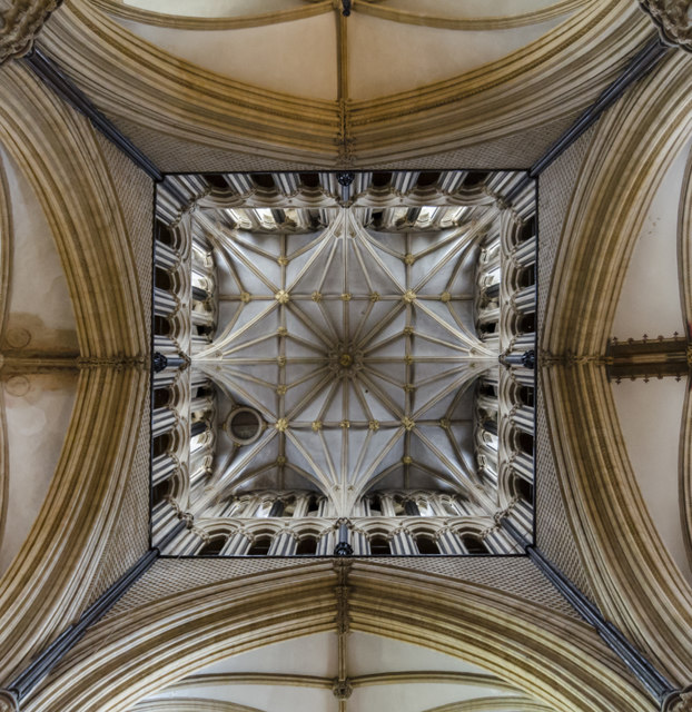 Beneath the main tower, Lincoln Cathedral
