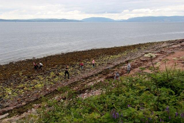 Beachcombing at Fintray Bay