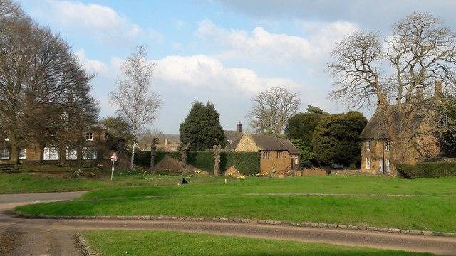 North-east across Shenington Green