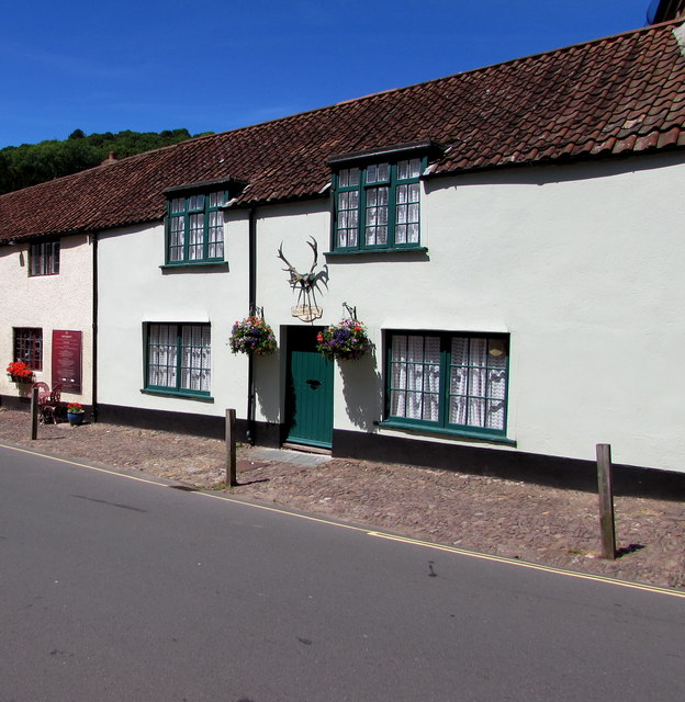Grade II listed Stags Head House, West Street, Dunster