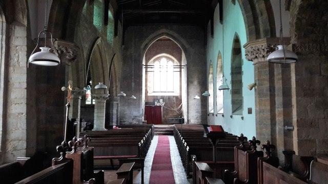 View west in Holy Trinity church, Shenington