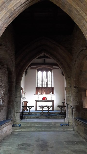 Under the tower in St Michael's church, Alkerton