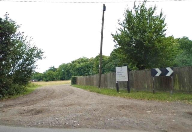 The entrance to Gaddesden Estate, Briden's Camp
