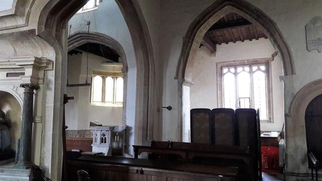 Inside St Kenelm's church, Enstone