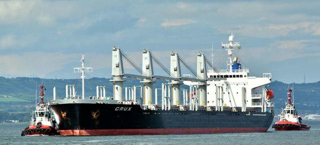 "Bulk carrier ""Crux"", Belfast (July 2017)"